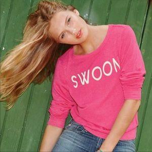 Wildfox Pink Swoon Raglan Pullover